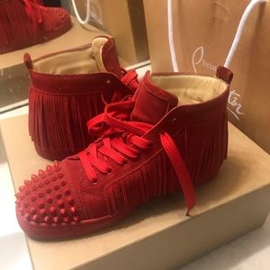 a74126b56701 Men s Red Louboutin Sneakers on Poshmark